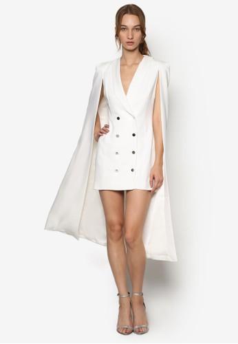 簡約V領披肩連身esprit tw裙, 服飾, 洋裝
