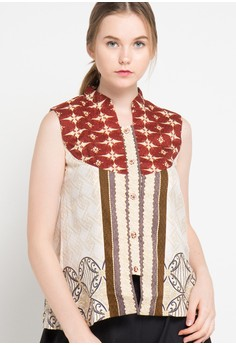 harga Banji Sleeveless Blouse Db 45 Rfp Soko Banji 30 Zalora.co.id
