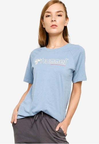 Hummel 藍色 Zenia 短袖T恤 61EAAAACFC6095GS_1