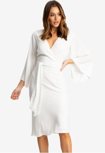 Tussah white Taylah Wrap Dress FF515AA4B2925CGS_1