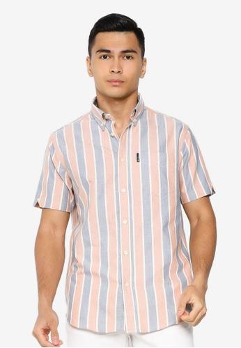 Ben Sherman orange Block Striped Shirt 0F3C8AAA203CE0GS_1