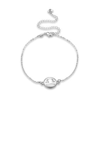 Glamorousky silver Fashion Simple Zodiac Libra Anklet DFC84AC6DF56C5GS_1