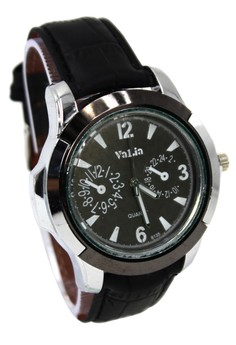 Valia Nathan Leather Strap Watch 8135