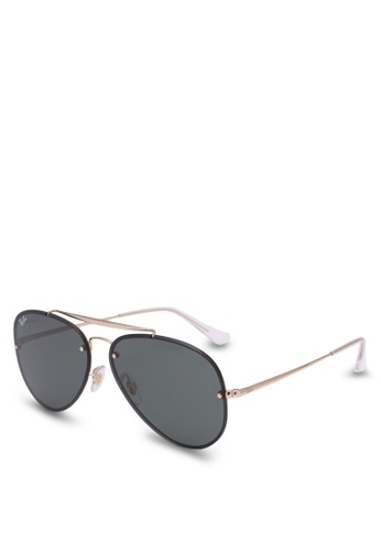 b4fbc59ca Buy Ray-Ban Blaze Aviator RB3584N Polarized Sunnies Online on ZALORA ...
