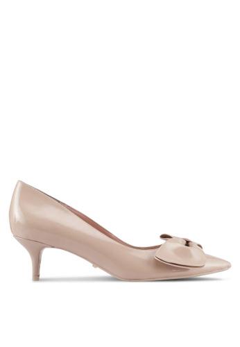 Dune London beige Bow Detail Kitten Heel Pumps F3327SH1EDAB25GS_1