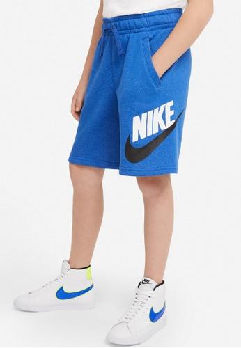 Nike blue Big Kids' Sportswear Club Fleece Shorts E81D4KABD145DEGS_1