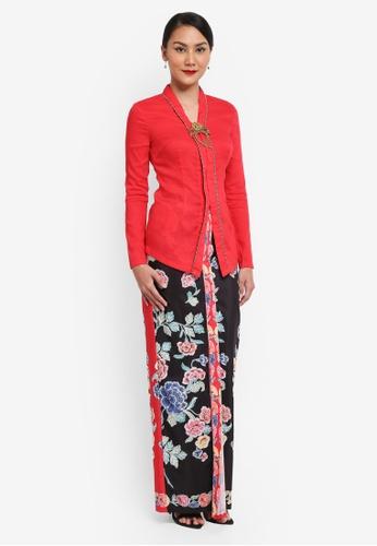 Syomirizwa Gupta for ZALORA red Rokiah Kebaya SY518AA0SXLPMY_1
