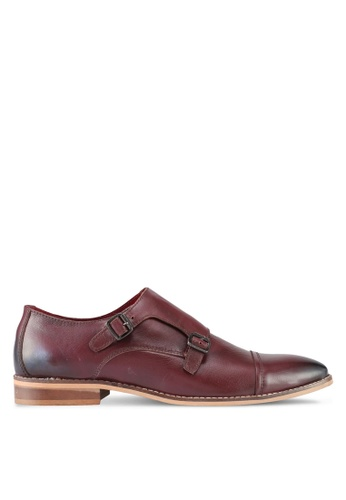 ACUTO brown Leather Dress Shoes AC283SH0SL5XMY_1