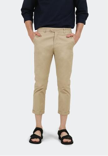 HUBBU brown Celana Panjang Chino Pria A07014H Coklat Muda 5897CAACBB9A52GS_1