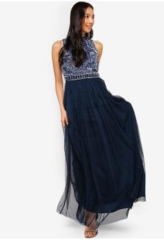 59ef4c689b8 69% OFF Lace   Beads Jessy Embellished High Neck Maxi Dress HK  1