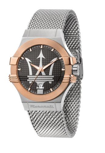Maserati silver Maserati Potenza Metal Band Quartz Silver Watches R8853108007 2E7E4ACB87646DGS_1