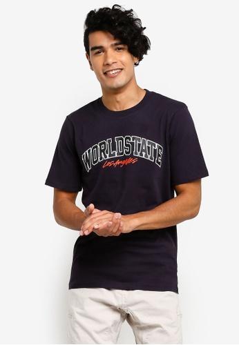 Cotton On 藍色 印花T恤 06072AA0B5BC99GS_1