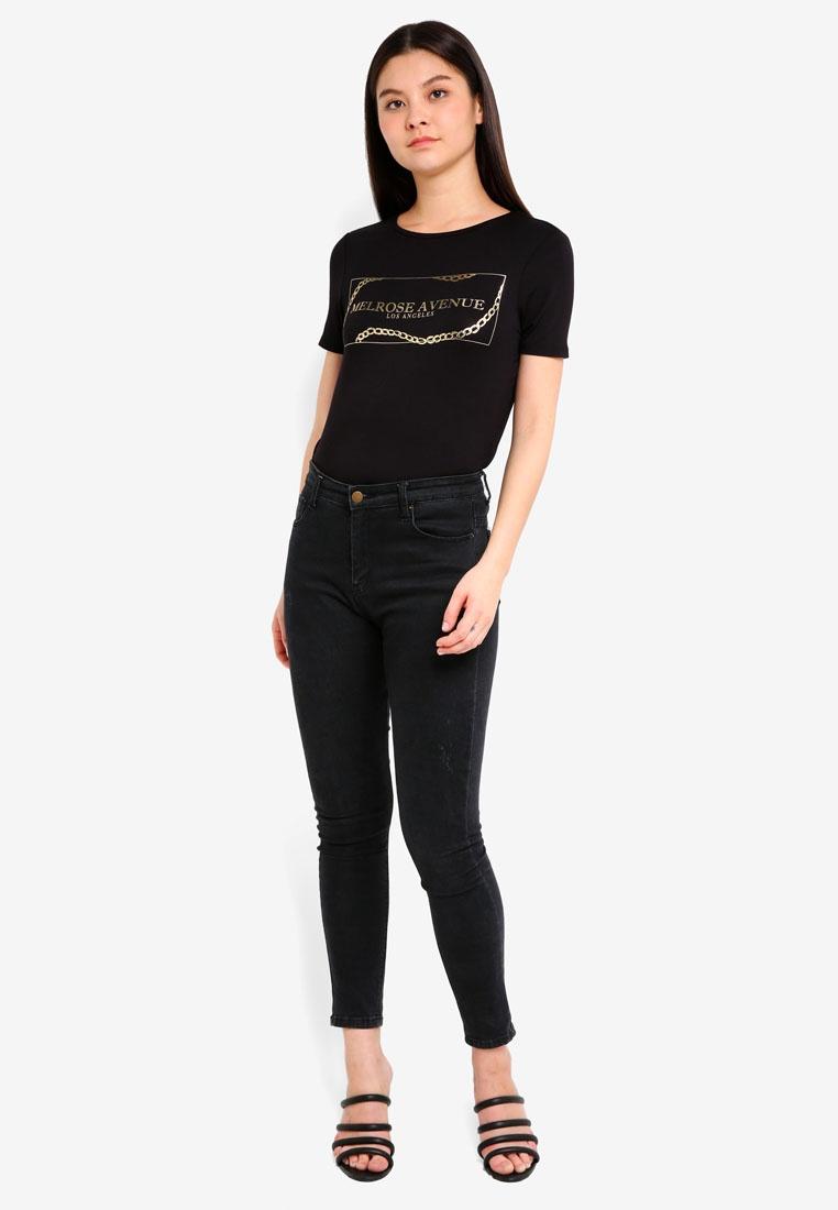 Shirt Perkins Dorothy Motif Melrose Black T dzqIfw