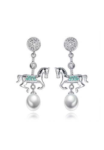 A.Excellence white Premium White Pearl Elegant Earring AFF95AC720A873GS_1