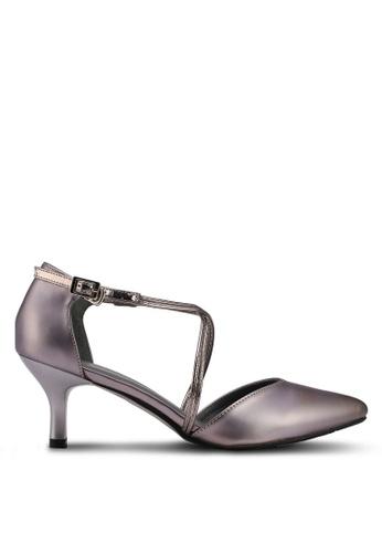 DMK grey Crossed Pump Heels C45F9SH61A937EGS_1