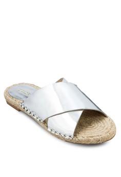 Cross Strap Espadrille Sandals