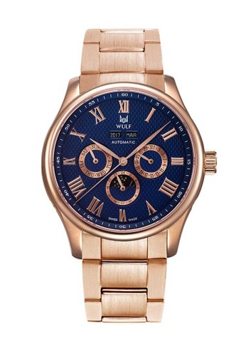 Wulf blue Wulf Lycan-X Rose Gold with Blue Dial Watch C6795AC25ABD52GS_1
