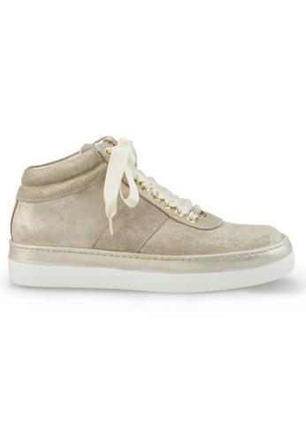 Shu Talk gold XSA Stylish Gold Ribbon Causal Sneakers SH397SH0GFJFSG_1