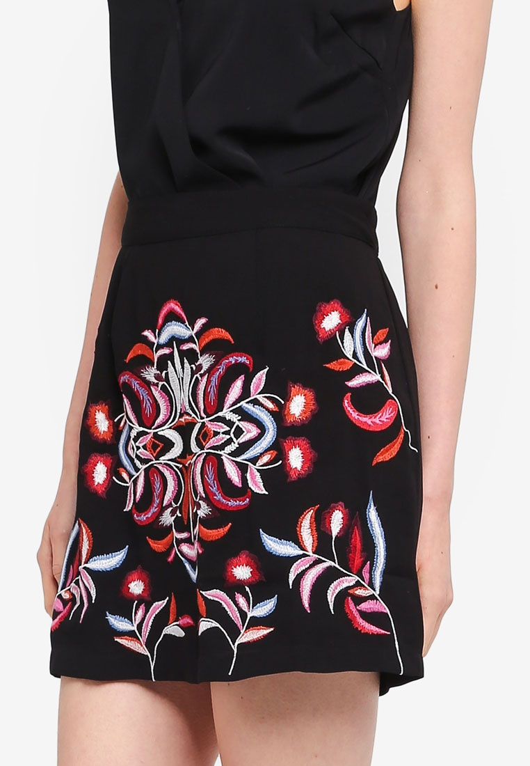 Black Short Vero Moda Lyla Skirt n0wS0xpqC