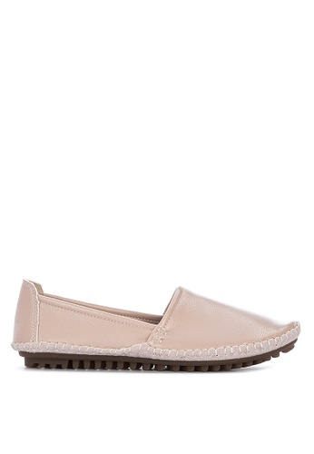 LND beige Cindy Loafer Flat Sandals C6CDBSHFEB78E8GS_1