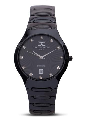 Carlo Cardini black Carlo Cardini Watch 9102LC-BLK-4 CA038AC98IZDMY_1