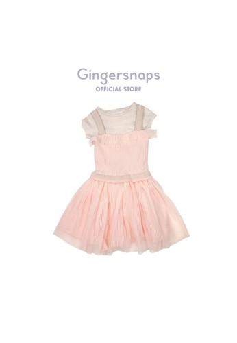 Gingersnaps pink Candy Town Dress Scallop Shell E8D62KA710F300GS_1