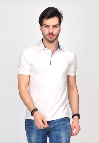 SIMPAPLY's Grimmer White Men's Polo-Shirt