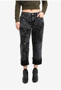 harga Ripped Detail Jeans Zalora.co.id
