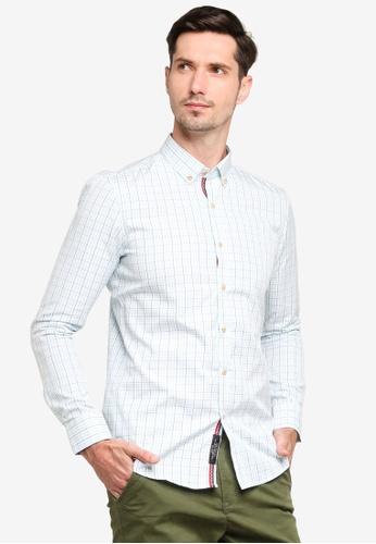 UniqTee blue Oxford Slim Fit Long Sleeve Shirt 59BBBAA38B35BEGS_1