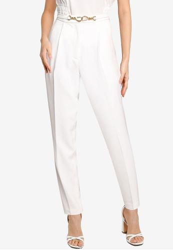 URBAN REVIVO white Casual Trousers E5D64AA19008E1GS_1