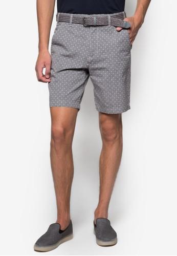 編織腰帶印花短褲, 服飾esprit 西裝, 短褲