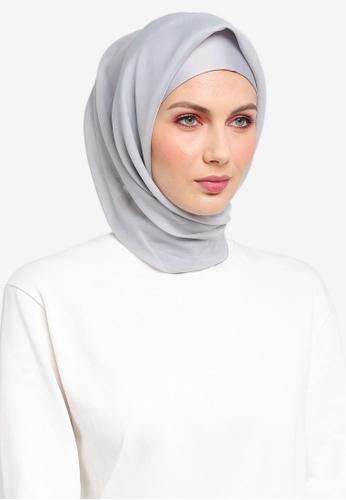 Ilham Echenta for ZALORA grey Organza Talia Hijab IL554AA0SY2SMY_1