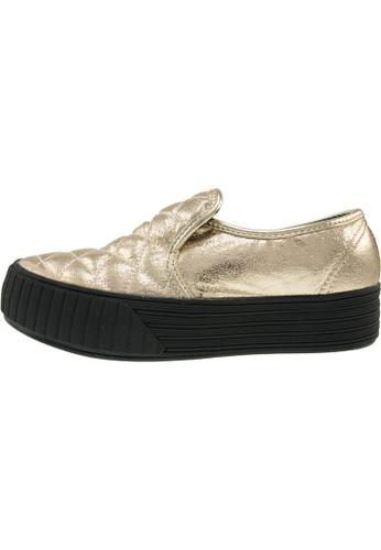 Maxstar 金色 新款韩国鞋C30-Stitch-TC時尚皮革布混合女金色 US Women Size MA345SH91HFCTW_1