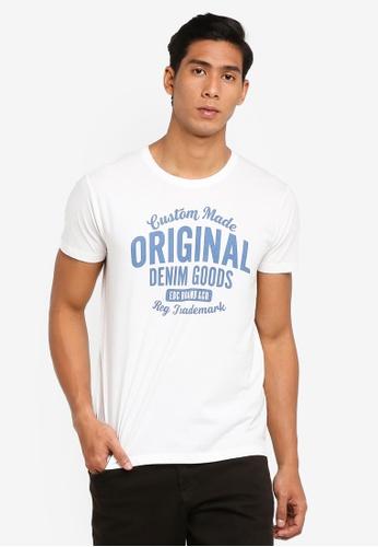 ESPRIT 白色 短袖T-襯衫 03518AA24C92E8GS_1