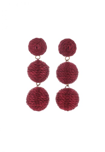 Style Cat red Style Cat Havana Ball Earrings 59CE2ACFB2B516GS_1