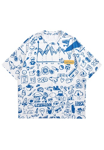 Twenty Eight Shoes Trend Printed Short T-shirt 5380S21 03C89AA7BE5F8FGS_1