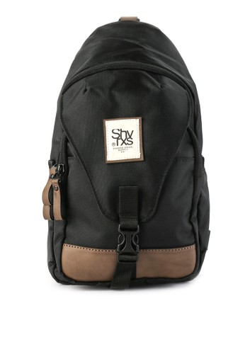 SHARKS black Casual Sling Bag 07503ACB820464GS_1