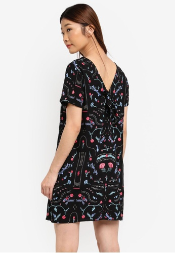 Something Borrowed black Back Tie Detail Shift Dress DD832AABC2D7FDGS_1
