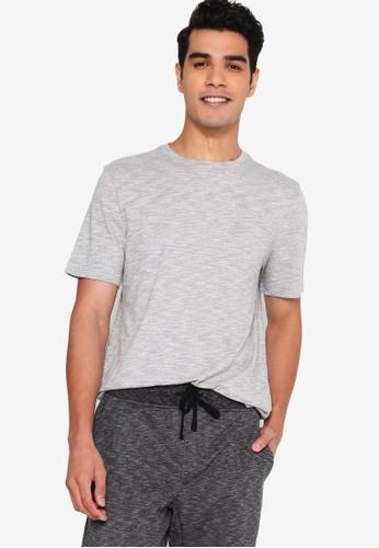 Banana Republic grey Short Sleeves Soft Wash Organic Crew Tee 211EAAA1669F00GS_1