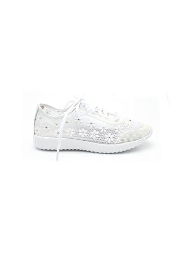 Elisa Litz white Rizzo Sneakers (White) 47930SH89D22E6GS_1