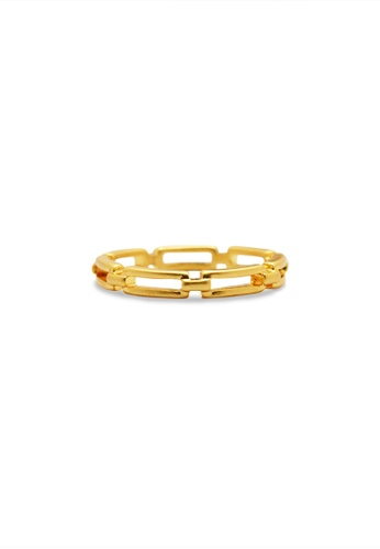 SKEDA gold Chain Link Ring 2B1B5ACCABEDC7GS_1