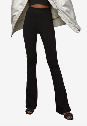 H&M black Ribbed Leggings 7EB0AAAA3054D6GS_1