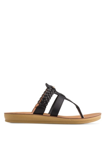 Noveni black Woven Sandals NO978SH86BNHMY_1