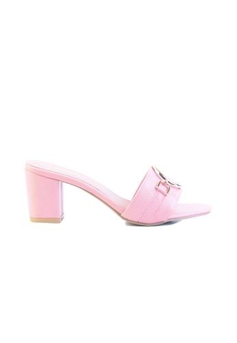 c26d0d7ac44f Alfio Raldo pink Pink Block Heel with Gold Metal Detail 7F725SH33084B0GS 1