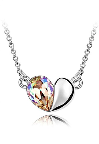 LOVENGIFTS silver and gold LOVENGIFTS In My Heart Pendant Necklace (Gold) LO429AC07JOYMY_1