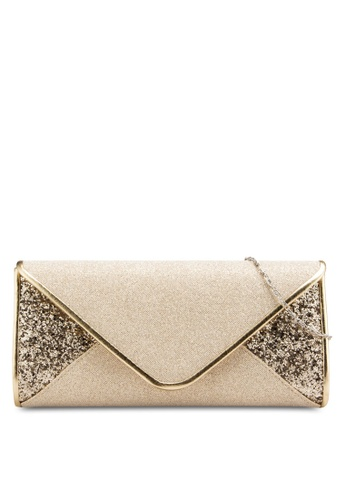 0639dd66656a Buy Unisa V-Shaped Duo-Textured Dinner Clutch Online on ZALORA Singapore