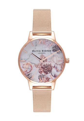 Olivia Burton gold Olivia Burton MARBLE FLORALS Rose-Gold 30 Women's Watch 6F06FACB6F1944GS_1