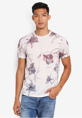 Burton Menswear London pink Pink Smart Tonal T-Shirt C9A4DAAC91B34BGS_1