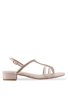 e3e784a2756 Dorothy Perkins pink Wide Fit Nude Sweep Heeled Sandal 0B422SHD0809C4GS 1