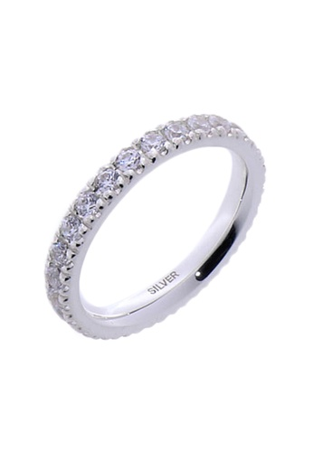 The LoveMark silver Full Eternity Ring with Artificial Diamonds for Men lr0002m TH516AC06UZLPH_1